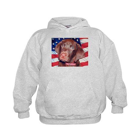 Patriotic Labrador Kids Hoodie