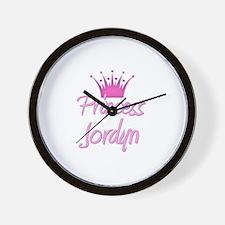 Princess Jordyn Wall Clock