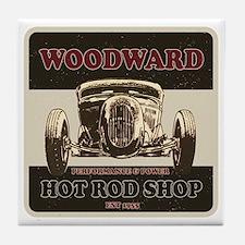Hot Rod Shop Tile Coaster
