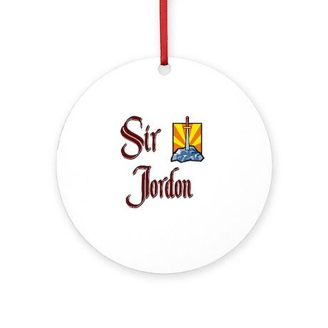 Sir Jordon Ornament (Round)