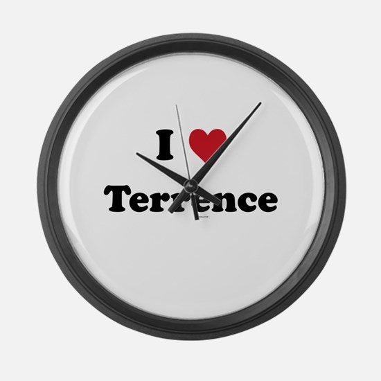 I love Terrence Large Wall Clock
