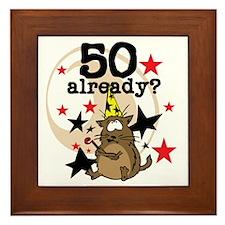 50 Already Birthday Framed Tile