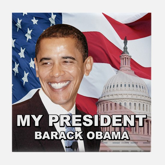 President Barck Obama t-shirt Tile Coaster