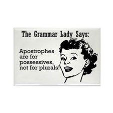 Apostrophes are for Possessiv Rectangle Magnet