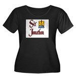 Sir Jonathon Women's Plus Size Scoop Neck Dark T-S