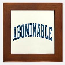 Abominable Nickname Collegiate Style Framed Tile
