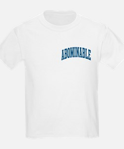 Abominable Nickname Collegiate Style T-Shirt