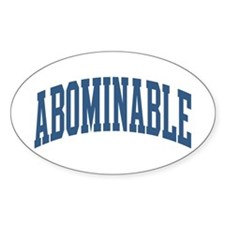 Abominable Nickname Collegiate Style Decal
