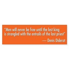 Denis Diderot Quote Bumper Sticker (10 pk)