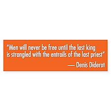 Denis Diderot Quote Bumper Bumper Sticker