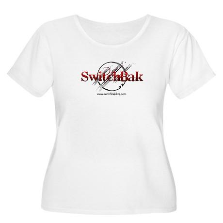 SwitchBak Women's Plus Size Scoop Neck T-Shirt
