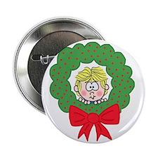"""Peek-a-Boo Wreath 2.25"""" Button (10 pack)"""
