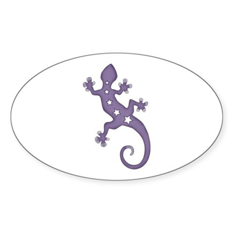 Lizard Oval Sticker
