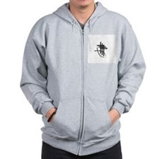 Crossfish Logo Zip Hoodie (grey)