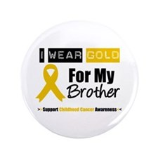 """IWearGold Brother 3.5"""" Button"""