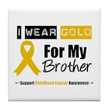 IWearGold Brother Tile Coaster
