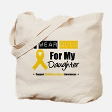 I Wear Gold Daughter Tote Bag