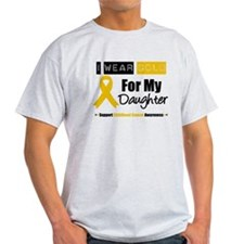 I Wear Gold Daughter T-Shirt