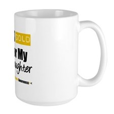 I Wear Gold Daughter Mug