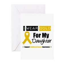 I Wear Gold Daughter Greeting Cards (Pk of 10)