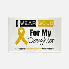 I Wear Gold Daughter Rectangle Magnet