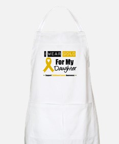 I Wear Gold Daughter BBQ Apron