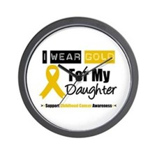 I Wear Gold Daughter Wall Clock