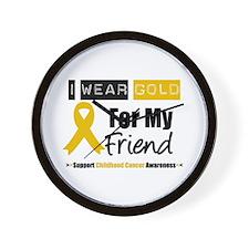 I Wear Gold Friend Wall Clock