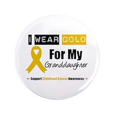 "IWearGold Granddaughter 3.5"" Button"