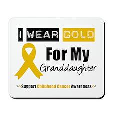 IWearGold Granddaughter Mousepad