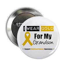 "I Wear Gold Grandson 2.25"" Button"