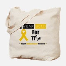 I Wear Gold For Me Tote Bag