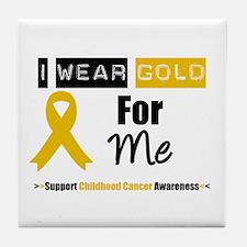 I Wear Gold For Me Tile Coaster
