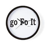 Go Fo It Wall Clock