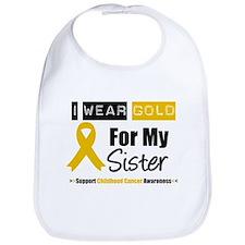 I Wear Gold Sister Bib