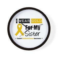 I Wear Gold Sister Wall Clock