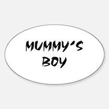 MUMMY'S BOY! Oval Decal