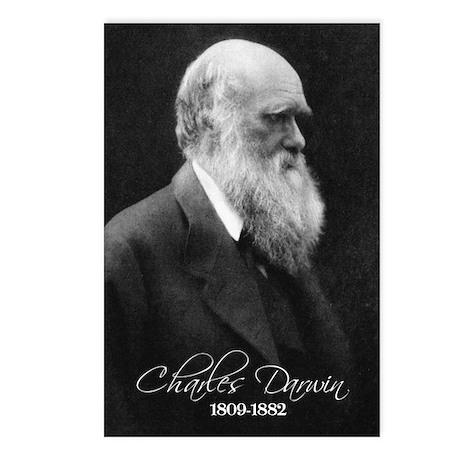 Charles Darwin Postcards (Package of 8)