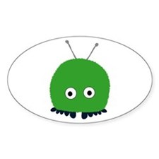 Green Wuppie Oval Decal