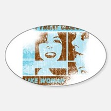 Objects Woman Lebowski Oval Decal