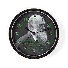 Charles Darwin Quote Wall Clock