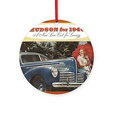 """1940 Hudson Brochure"" Ornament (Round)"