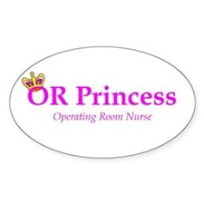 OR Princess RN Oval Decal