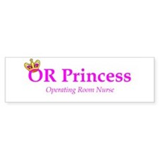 OR Princess RN Bumper Bumper Sticker