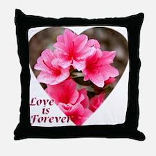 Azalea Heart Throw Pillow