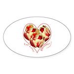 Tulips, Let Love Bloom Oval Sticker (10 pk)