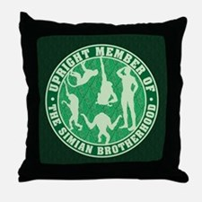 Simian Brotherhood Throw Pillow