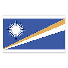 Marshall Islands Rectangle Decal