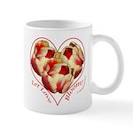 Tulips, Let Love, right handed Mug