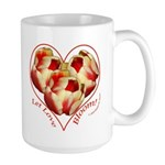Tulips, Let Love, right handed Large Mug